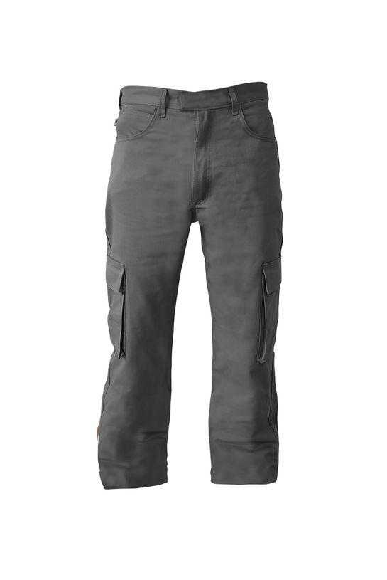 Pantalon-cargo-Gris-delantero